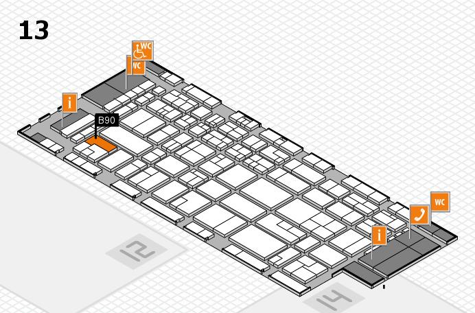 CARAVAN SALON 2016 hall map (Hall 13): stand B90