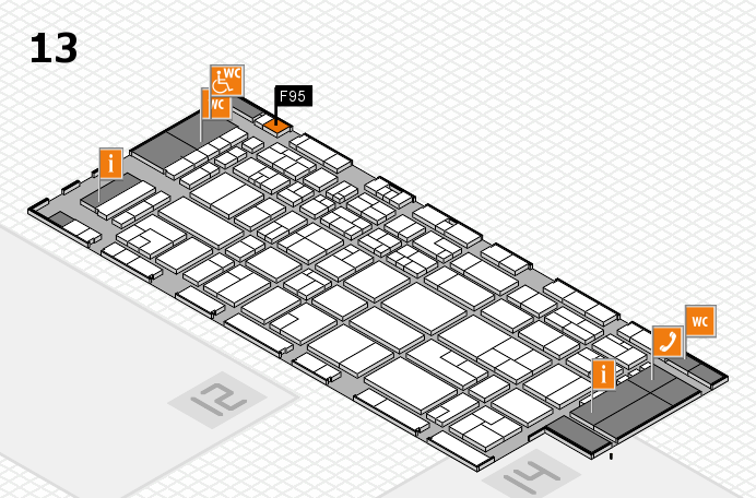 CARAVAN SALON 2016 hall map (Hall 13): stand F95