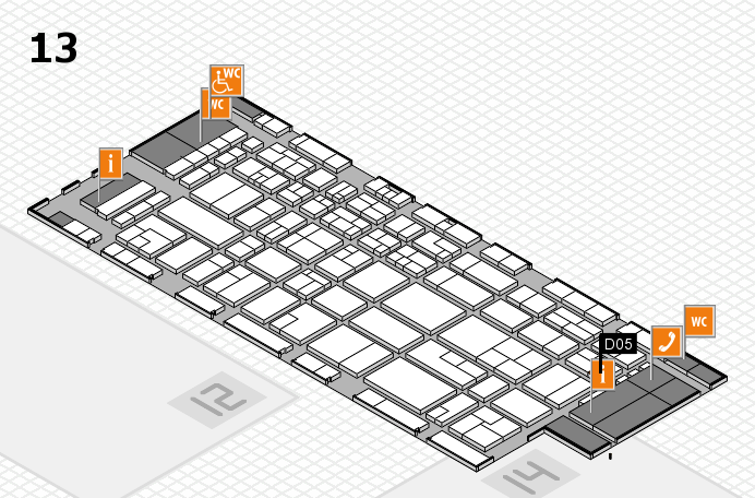 CARAVAN SALON 2016 hall map (Hall 13): stand D05