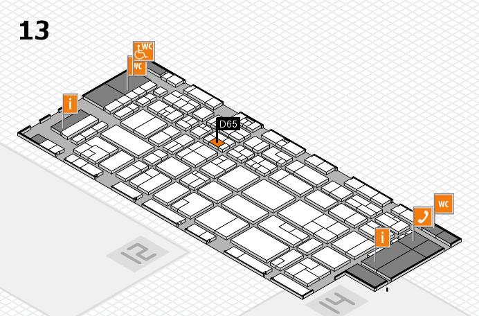 CARAVAN SALON 2016 Hallenplan (Halle 13): Stand D65