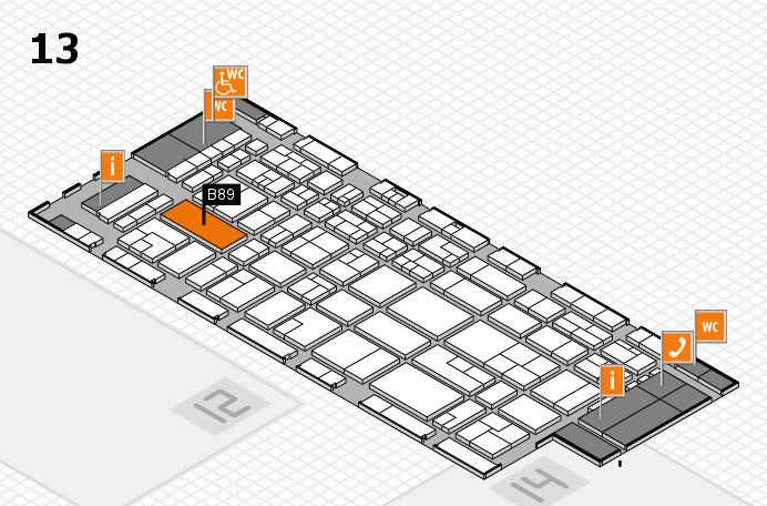 CARAVAN SALON 2016 Hallenplan (Halle 13): Stand B89