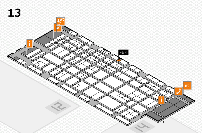 CARAVAN SALON 2016 hall map (Hall 13): stand F53