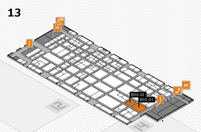CARAVAN SALON 2016 hall map (Hall 13): stand B03-01, stand B03-02