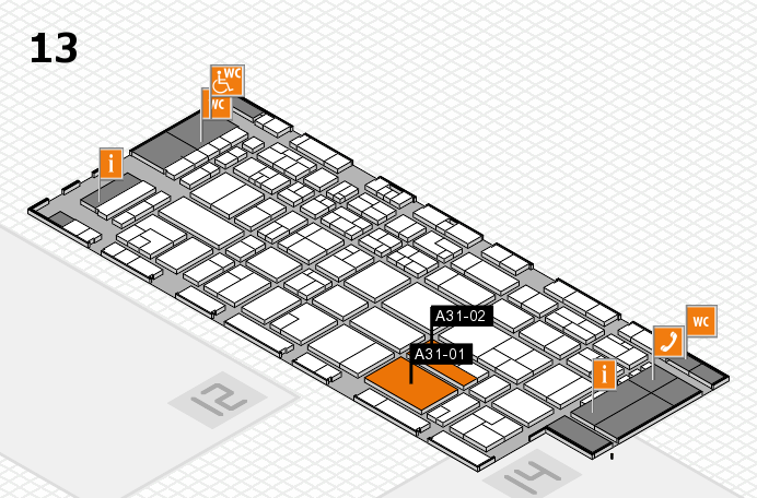 CARAVAN SALON 2016 hall map (Hall 13): stand A31-01, stand A31-02