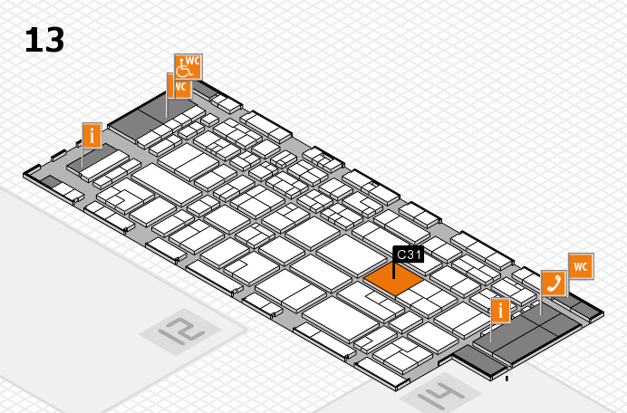 CARAVAN SALON 2016 hall map (Hall 13): stand C31