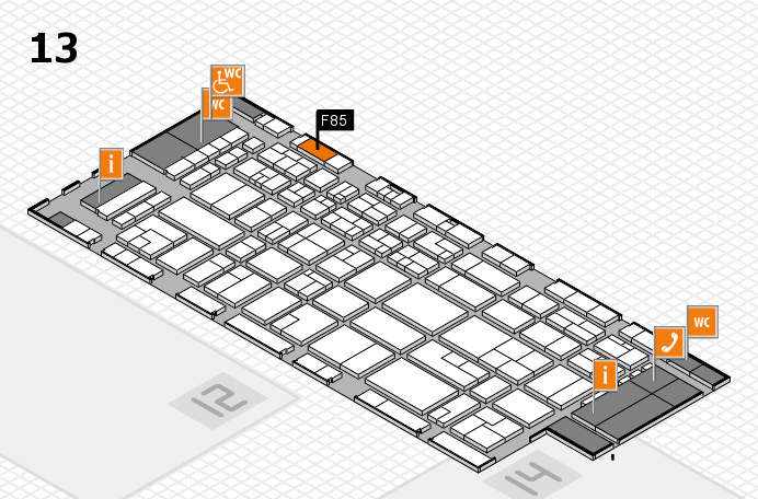 CARAVAN SALON 2016 hall map (Hall 13): stand F85