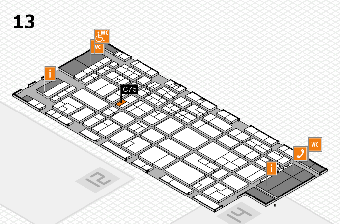 CARAVAN SALON 2016 hall map (Hall 13): stand C75
