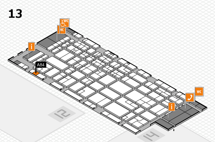 CARAVAN SALON 2016 hall map (Hall 13): stand A84