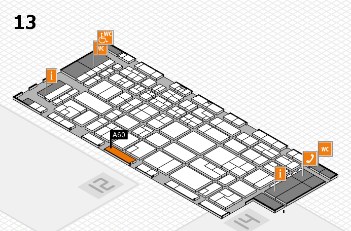 CARAVAN SALON 2016 hall map (Hall 13): stand A60