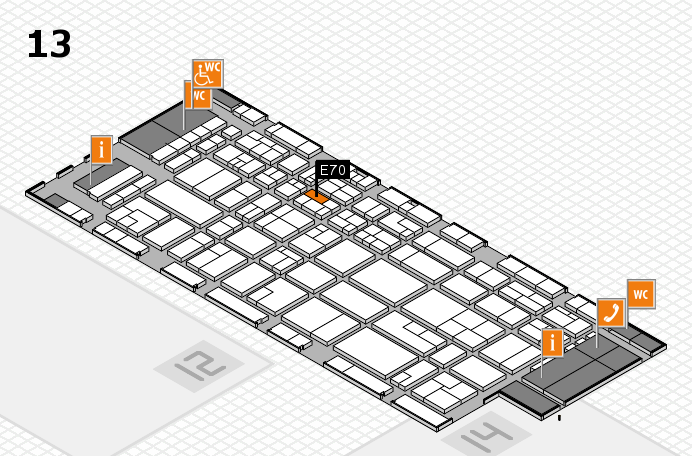 CARAVAN SALON 2016 hall map (Hall 13): stand E70