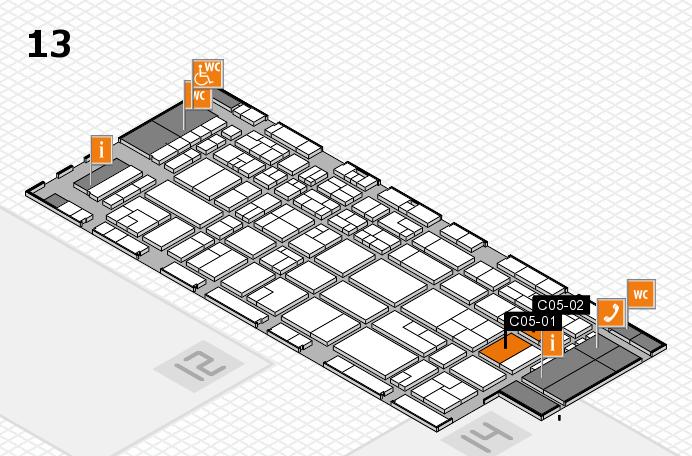CARAVAN SALON 2016 hall map (Hall 13): stand C05-01, stand C05-02
