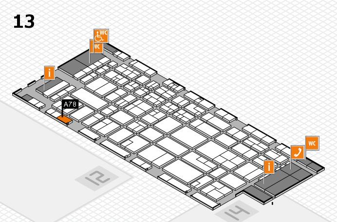 CARAVAN SALON 2016 hall map (Hall 13): stand A78