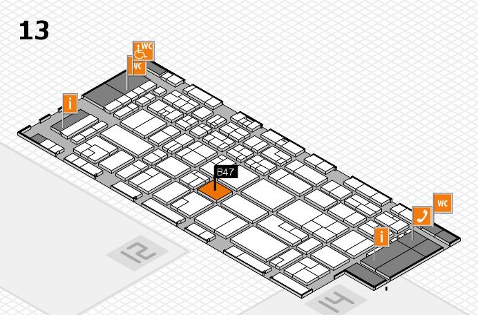 CARAVAN SALON 2016 hall map (Hall 13): stand B47
