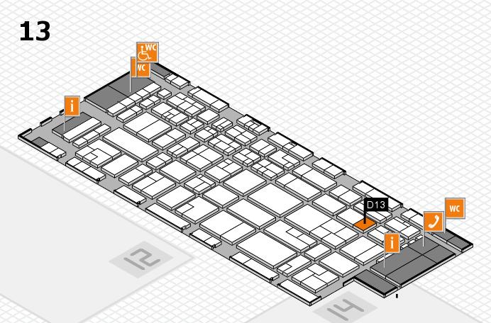 CARAVAN SALON 2016 hall map (Hall 13): stand D13