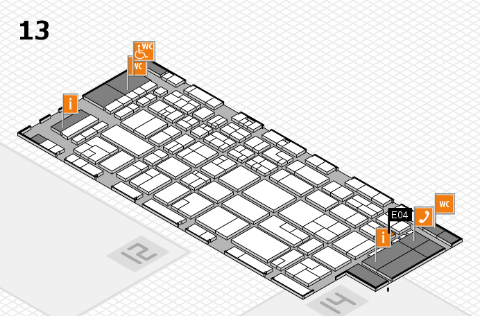CARAVAN SALON 2016 hall map (Hall 13): stand E04