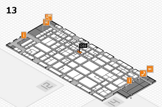CARAVAN SALON 2016 hall map (Hall 13): stand D59