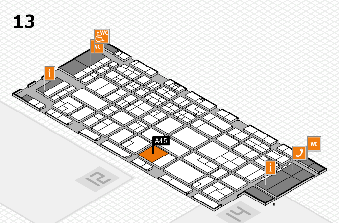 CARAVAN SALON 2016 hall map (Hall 13): stand A45