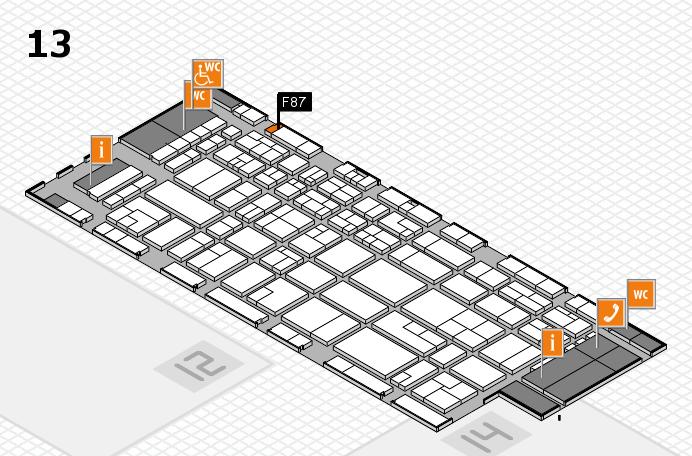 CARAVAN SALON 2016 hall map (Hall 13): stand F87