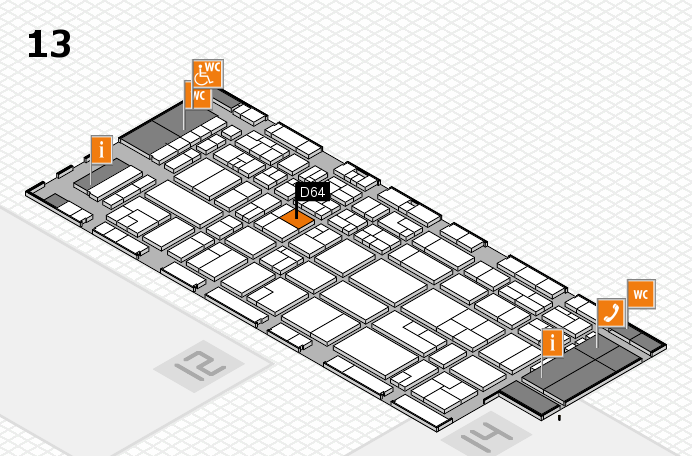 CARAVAN SALON 2016 hall map (Hall 13): stand D64