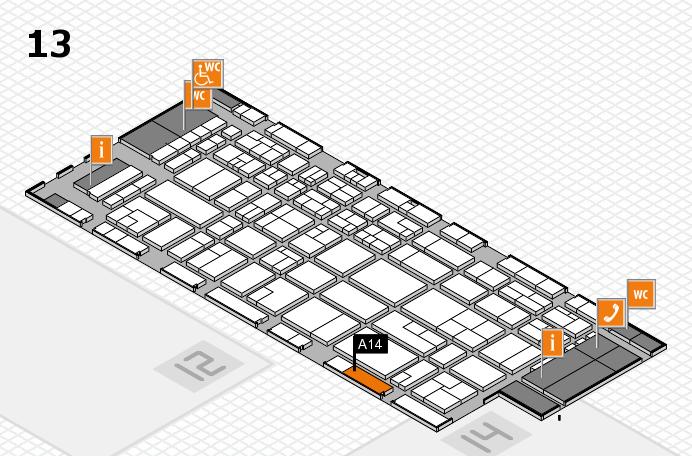 CARAVAN SALON 2016 hall map (Hall 13): stand A14
