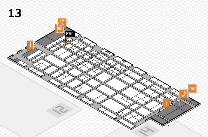 CARAVAN SALON 2016 hall map (Hall 13): stand E90