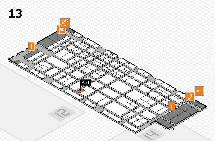 CARAVAN SALON 2016 hall map (Hall 13): stand A51