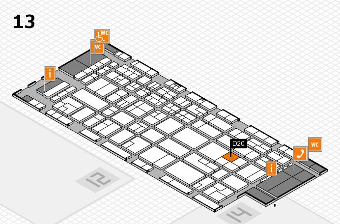 CARAVAN SALON 2016 hall map (Hall 13): stand D20