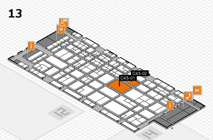 CARAVAN SALON 2016 Hallenplan (Halle 13): Stand C45-01, Stand C45-02