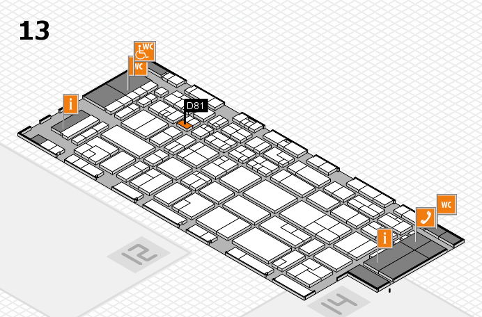 CARAVAN SALON 2016 hall map (Hall 13): stand D81