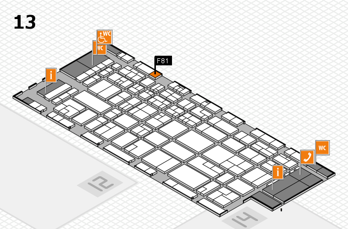 CARAVAN SALON 2016 hall map (Hall 13): stand F81