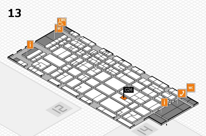 CARAVAN SALON 2016 hall map (Hall 13): stand C26