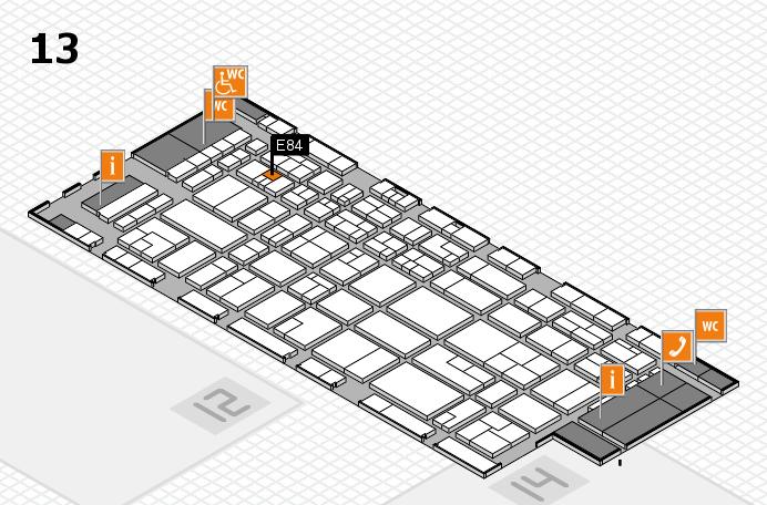 CARAVAN SALON 2016 hall map (Hall 13): stand E84