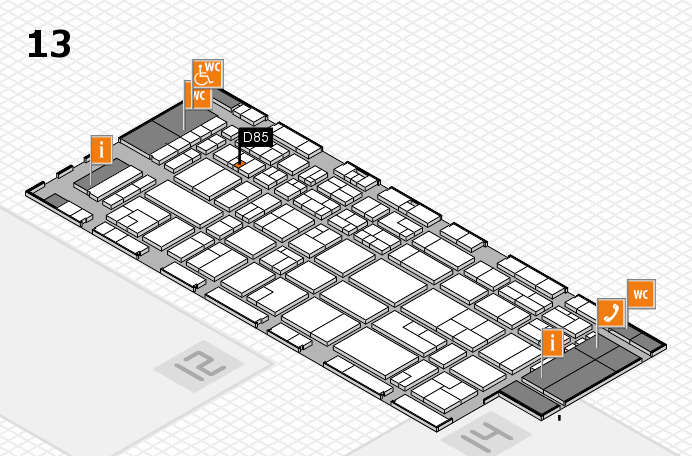 CARAVAN SALON 2016 hall map (Hall 13): stand D85