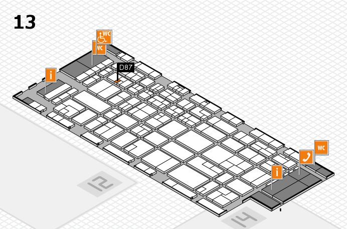 CARAVAN SALON 2016 Hallenplan (Halle 13): Stand D87