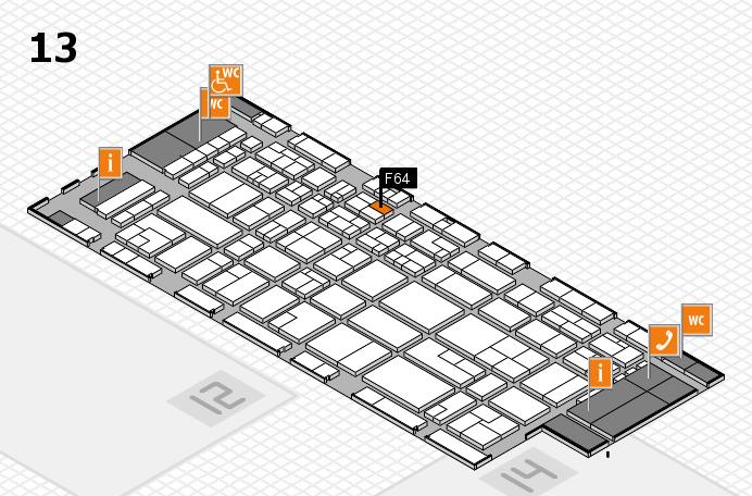 CARAVAN SALON 2016 hall map (Hall 13): stand F64