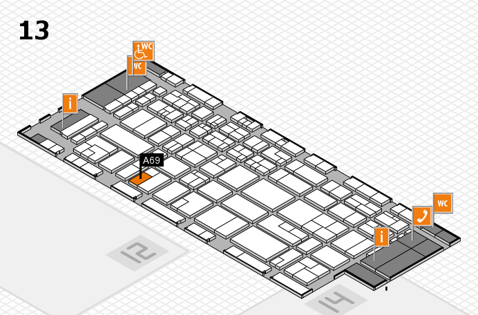 CARAVAN SALON 2016 hall map (Hall 13): stand A69