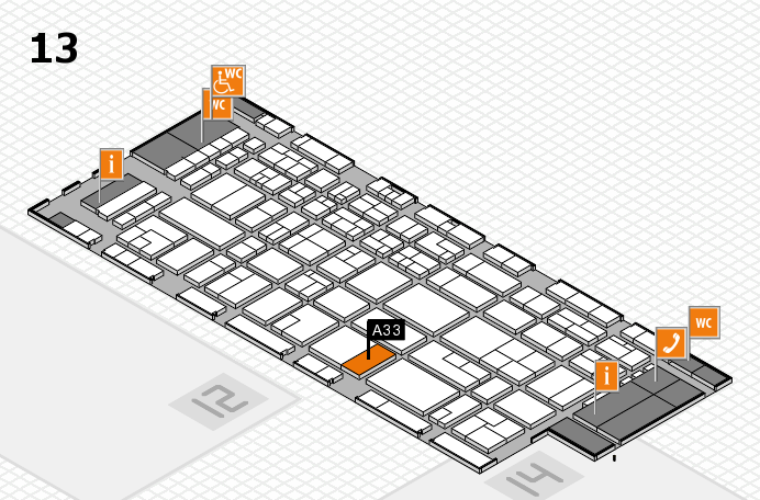 CARAVAN SALON 2016 hall map (Hall 13): stand A33