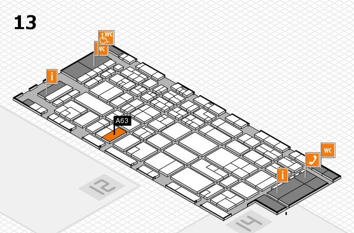 CARAVAN SALON 2016 hall map (Hall 13): stand A63