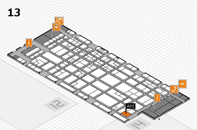 CARAVAN SALON 2016 hall map (Hall 13): stand A03