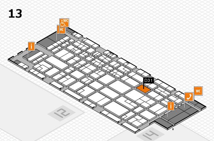CARAVAN SALON 2016 hall map (Hall 13): stand D31