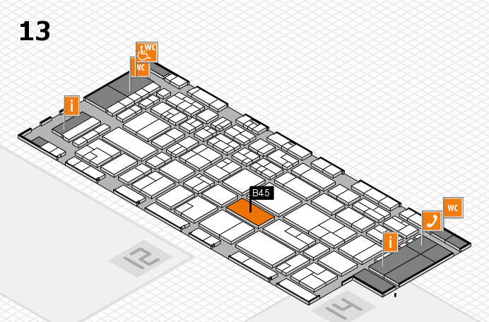 CARAVAN SALON 2016 hall map (Hall 13): stand B45