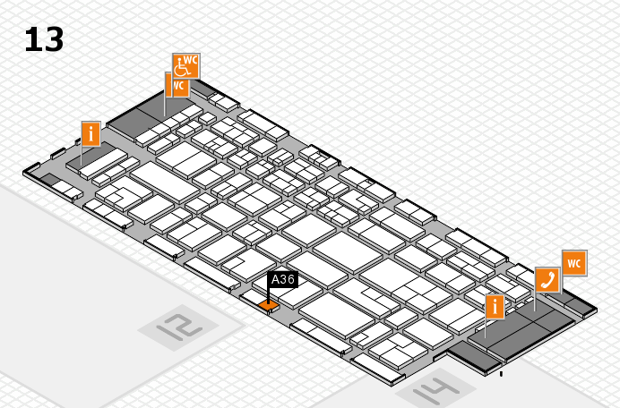 CARAVAN SALON 2016 hall map (Hall 13): stand A36