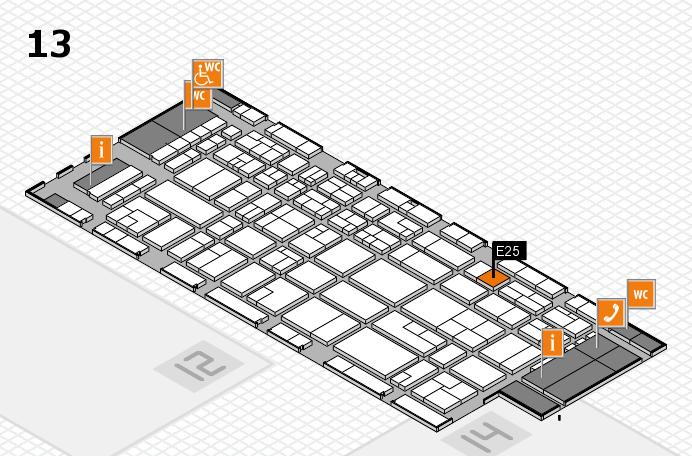 CARAVAN SALON 2016 hall map (Hall 13): stand E25