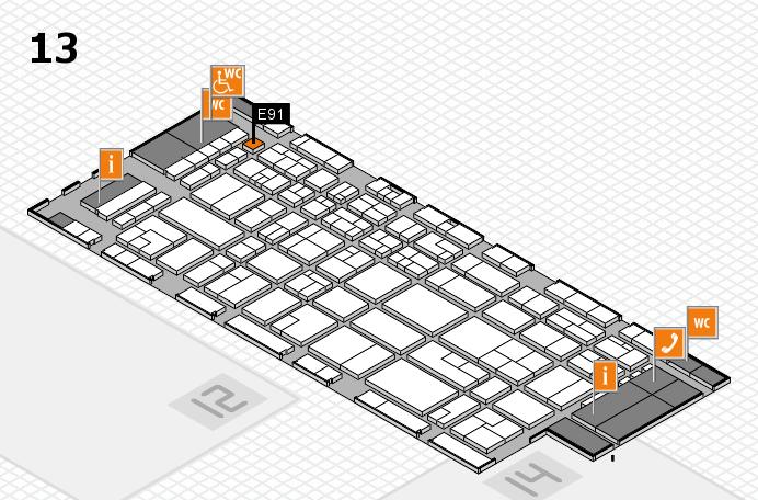 CARAVAN SALON 2016 Hallenplan (Halle 13): Stand E91