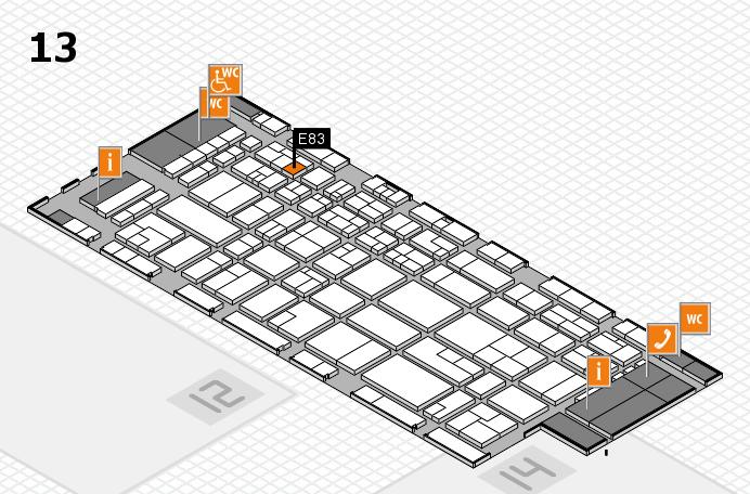 CARAVAN SALON 2016 Hallenplan (Halle 13): Stand E83