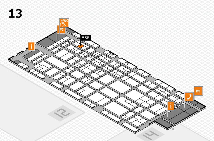 CARAVAN SALON 2016 Hallenplan (Halle 13): Stand E85