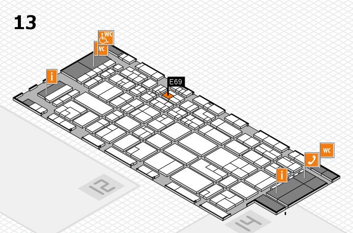 CARAVAN SALON 2016 hall map (Hall 13): stand E69