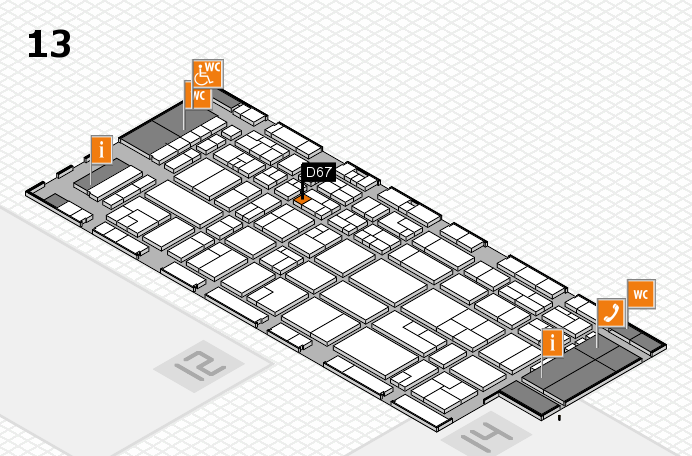 CARAVAN SALON 2016 hall map (Hall 13): stand D67