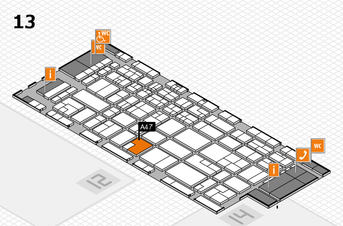CARAVAN SALON 2016 Hallenplan (Halle 13): Stand A47