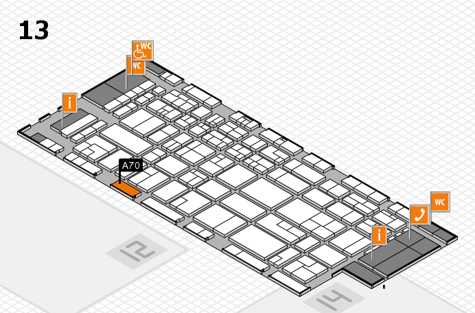CARAVAN SALON 2016 hall map (Hall 13): stand A70